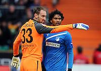 FUSSBALL   1. BUNDESLIGA   SAISON 2011/2012   21. SPIELTAG Werder Bremen - 1899 Hoffenheim                        11.02.2012 Tom Starke (li) und Marvin Compper (re, beide TSG 1899 Hoffenheim)