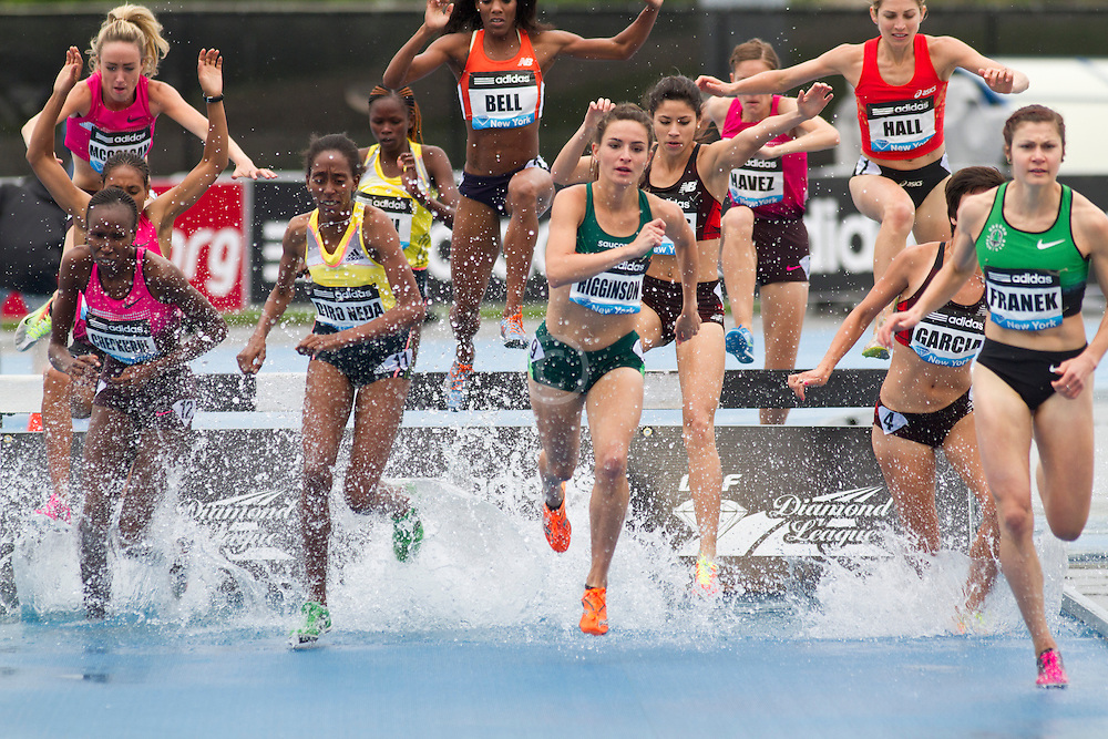 adidas Grand Prix Diamond League professional track & field meet: womens steeplechase, Ashley Higginson