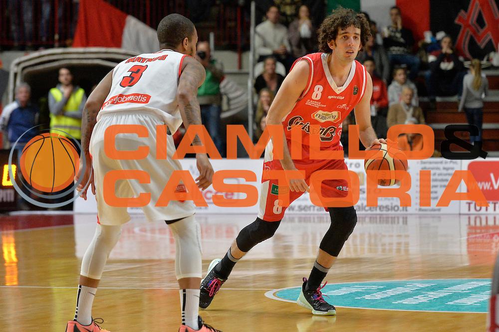 Amedeo Della Valle<br /> Openjobmetis Pallacanestro Varese - Grissin Bon Pallacanestro Reggio Emilia<br /> Lega Basket Serie A 2016/2017<br /> Varese, 11/12/2016<br /> Foto Ciamillo-Castoria