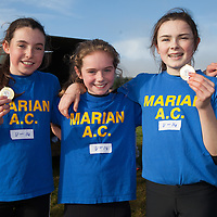 Moya Sheehan, Rachel Hartigan and Derinn Finnerty U14 finalists from Marian A.C.
