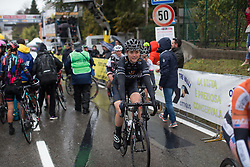 Audrey Cordon-Ragot (FRA) of Wiggle Hi5 Cycling Team finishes the Trofeo Alfredo Binda - a 131,1 km road race, between Taino and Cittiglio on March 18, 2018, in Varese, Italy. (Photo by Balint Hamvas/Velofocus.com)