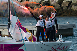 2012 Olympic Games London / Weymouth<br /> Match Race Final Day<br /> Petite Final<br /> Skudina Ekaterina, Oblova Elena, Syuzeva Elena, (RUS, Match Race)<br /> Kanerva Silja, Wulff Mikaela, Lehtinen Silja, (FIN, Match Race)<br /> Winner FIN 3 RUS 2<br /> Final<br /> Echegoyen Tamara, Toro Sofia, Pumariega Angela, (ESP, Match Race)<br /> Curtis Nina, Whitty Lucinda, Price Olivia, (AUS, Match Race) <br /> Winner ESP 3 AUS 2