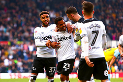 Duane Holmes of Derby County celebrates his goal - Mandatory by-line: Ryan Crockett/JMP - 30/03/2019 - FOOTBALL - Pride Park Stadium - Derby, England - Derby County v Rotherham United - Sky Bet Championship