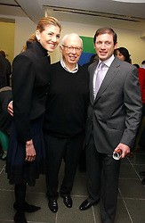 Left to right, Andrea Olshan, Ellsworth Kelly & Glenn R. Fuhrman at an exhibition of leading artist Ellsworth Kelly at the Serpentine Gallery, Kensington Gardens, London followed by a dinner at the Riverside Cafe, London on 17th March 2006.<br />