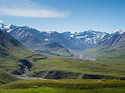 View of the Alaska Mountain Rainge from the Eielson Visitor Center, Denali National Park, Alaska.