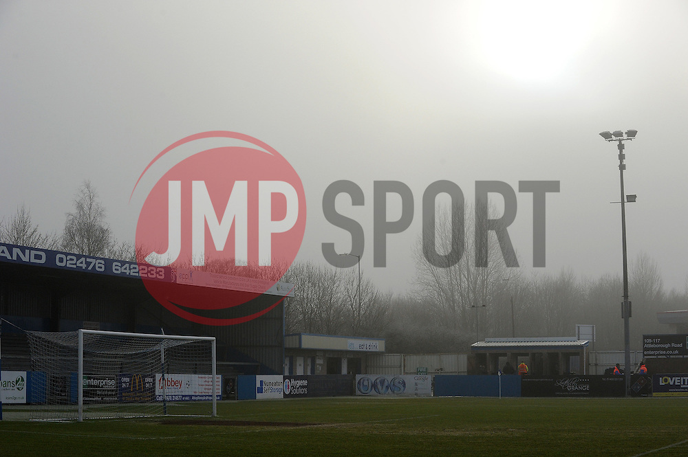 A foggy and frosty Nuneaton - Photo mandatory by-line: Neil Brookman/JMP - Mobile: 07966 386802 - 04/01/2015 - SPORT - football - Nuneaton - James Parnell Stadium - Nuneaton Town v Bristol Rovers - Vanarama Conference