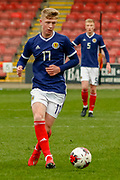 Stuart Mckinstry (Motherwell) during the U17 European Championships match between Scotland and Poland at Firhill Stadium, Maryhill, Scotland on 26 March 2019.