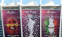 FUSSBALL INTERNATIONAL  EURO 2012  FINALE  30.06.2012  Aussenansicht des Olympiastadion in Kiew; Spanien - Italien