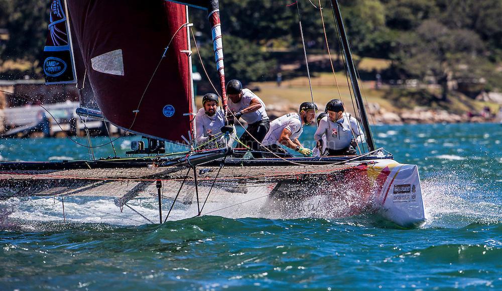 The Extreme Sailing Series 2016. Team Australia: Sean Langman, Sean Langman, Seve Jarvin, Marcus Ashley-Jones, Rhys Mara, Gerard Smith .Act 8.Sydney,Australia. 8th-11th December 2016. Credit - Jesus Renedo/Lloyd Images
