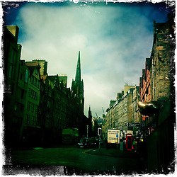 High Street, Edinburgh..Hipstamatic images taken on an Apple iPhone..©Michael Schofield.