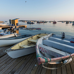Skiffs at the Spuce Head Fisherman's Co-op in South Thomaston, Maine.