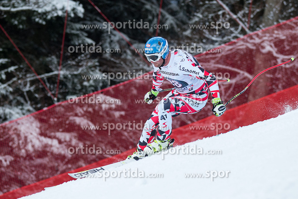 28.02.2015, Kandahar, Garmisch Partenkirchen, GER, FIS Weltcup Ski Alpin, Abfahrt, Herren, im Bild Georg Streitberger (AUT) // Georg Streitberger of Austria in action during the men's Downhill of the FIS Ski Alpine World Cup at the Kandahar course, Garmisch Partenkirchen, Germany on 2015/02/28. EXPA Pictures © 2015, PhotoCredit: EXPA/ Johann Groder