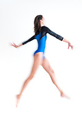 The talents of a young Gymnast in studio