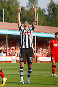 Notts County forward Jonathan Stead (30) celebrates his goal during the EFL Sky Bet League 2 match between Crawley Town and Notts County at the Checkatrade.com Stadium, Crawley, England on 27 August 2016. Photo by Andy Walter.