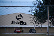 An exterior view of the Slide Fire Solutions facility in Moran, Texas on October 18, 2017. (Cooper Neill for The New York Times)
