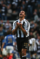 Photo: Andrew Unwin.<br /> Newcastle United v Portsmouth. The Barclays Premiership. 26/11/2006.<br /> Newcastle's Steven Taylor celebrates his team's goal.