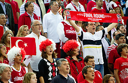 Fans of Turkey during the finals basketball match between National teams of Turkey and USA at 2010 FIBA World Championships on September 12, 2010 at the Sinan Erdem Dome in Istanbul, Turkey.   (Photo By Vid Ponikvar / Sportida.com)