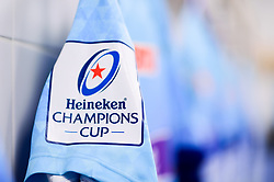 Heineken Champions Cup branding on the shirts in the changing room prior to kick off - Mandatory by-line: Ryan Hiscott/JMP - 13/01/2019 - RUGBY - Sandy Park Stadium - Exeter, England - Exeter Chiefs v Castres - Heineken Champions Cup