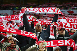 November 13, 2017 - Gdansk, Poland - Fans during the international friendly soccer match between Poland and Mexico at the Energa Stadium in Gdansk, Poland on 13 November 2017  (Credit Image: © Mateusz Wlodarczyk/NurPhoto via ZUMA Press)