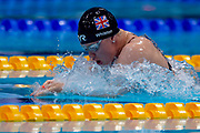 Brock Whiston of Great Britain on her way to winning Gold  in the Women's 100 m Breaststroke SB8 during the World Para Swimming Championships 2019 Day 7 held at London Aquatics Centre, London, United Kingdom on 15 September 2019.