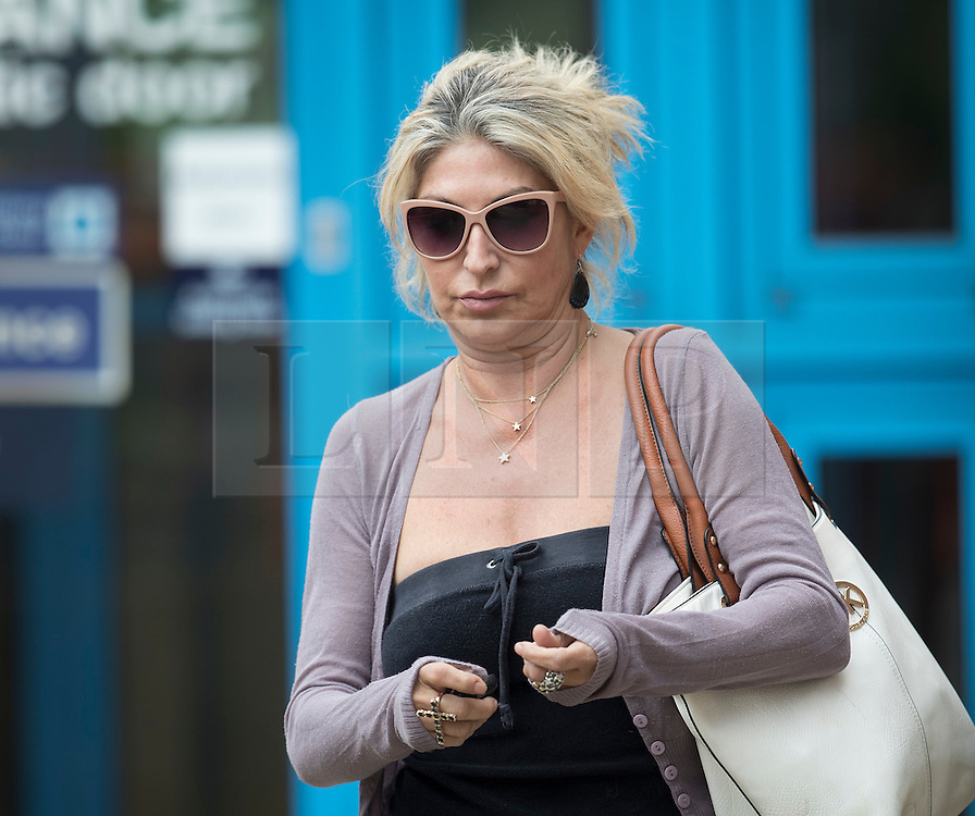 © Licensed to London News Pictures. 17/05/2016. London, UK.  Matilde Conejero leaves Uxbridge Magistrates Court. Ms Conejero, who is the estranged wife of chef Marco Pierre White, is charged with two counts of common assault against her sons. She pleaded not guilty to both counts at an earlier hearing . Photo credit: Peter Macdiarmid/LNP