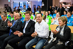 Bogdan Gabrovec, Iztok Cop, Tomaz Barada during presentation of Slovenian Young Athletes before departure to EYOF (European Youth Olympic Festival) in Vorarlberg and Liechtenstein, on January 21, 2015 in Bled, Slovenia. Photo by Vid Ponikvar / Sportida