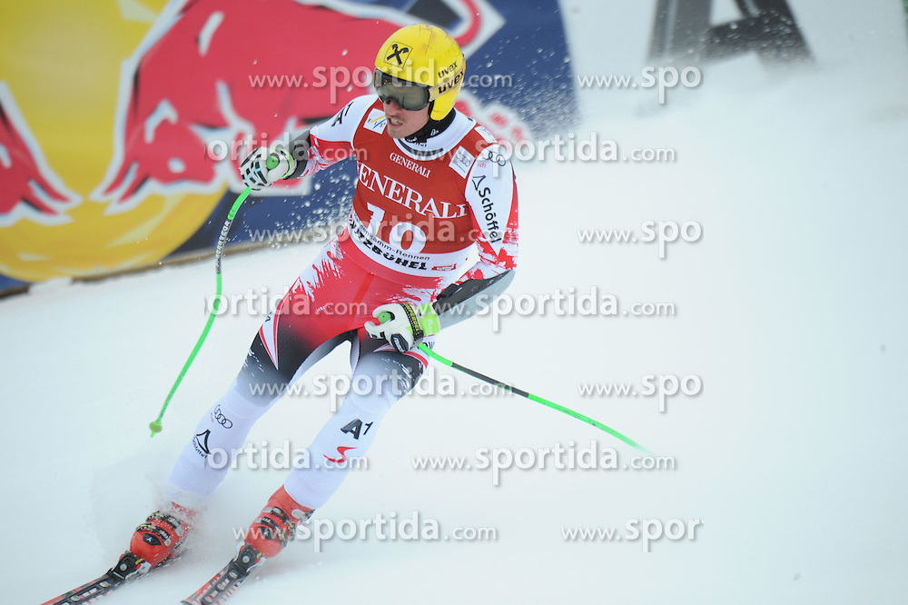 23.01.2015, Streif, Kitzbuehel, AUT, FIS Ski Weltcup, Supercombi Super G, Herren, im Bild Max Franz (AUT) // Max Franz of Austria reacts after his run of the men's Super Combined Super-G of Kitzbuehel FIS Ski Alpine World Cup at the Streif Course in Kitzbuehel, Austria on 2015/01/23. EXPA Pictures © 2015, PhotoCredit: EXPA/ Erich Spiess