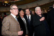 VIC REEVES; RONNIE WOOD; MELVYN BRAGG; RICHARD GRIFFITHS, The South Bank Sky Arts Awards , The Dorchester Hotel, Park Lane, London. January 25, 2011,-DO NOT ARCHIVE-© Copyright Photograph by Dafydd Jones. 248 Clapham Rd. London SW9 0PZ. Tel 0207 820 0771. www.dafjones.com.