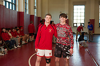 St Paul's School varsity wrestling with Thayer and Nobles.  ©2018 Karen Bobotas Photographer