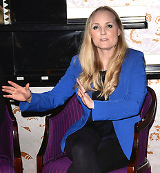 Kerry Ellis attends Press Launch at The Prince Edward Theatre, London on Friday 3 April 2015. <br /> <br /> West End leading ladies Louise Dearman and Kerry Ellis announced that they will be joining forces for the first time, professionally, for a one off concert to be held on 27 September 2015 at the Prince Edward Theatre, London. The concert promises an evening of iconic duets and will feature a live band.