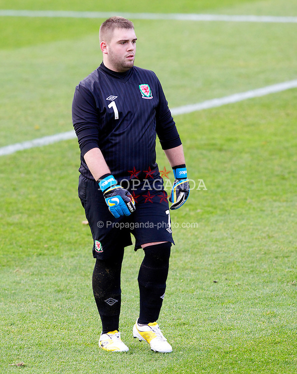 BANGOR, WALES - Thursday, November 8, 2012: Wales' goalkeeper Andrew Parry in action against Northern Ireland during the International Learning Disability Fixture at the Nantporth Stadium. (Pic by Vegard Grott/Propaganda)