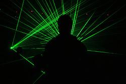Laser show na Dnevu slovenske moske kosarke, 26. decembra 2008, na Planini, Kranj, Slovenija. (Photo by Vid Ponikvar / Sportida)