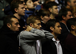 Derby County fans look dejected - Mandatory byline: Jack Phillips / JMP - 07966386802 - 6/11/2015 - FOOTBALL - The City Ground - Nottingham, Nottinghamshire - Nottingham Forest v Derby County - Sky Bet Championship
