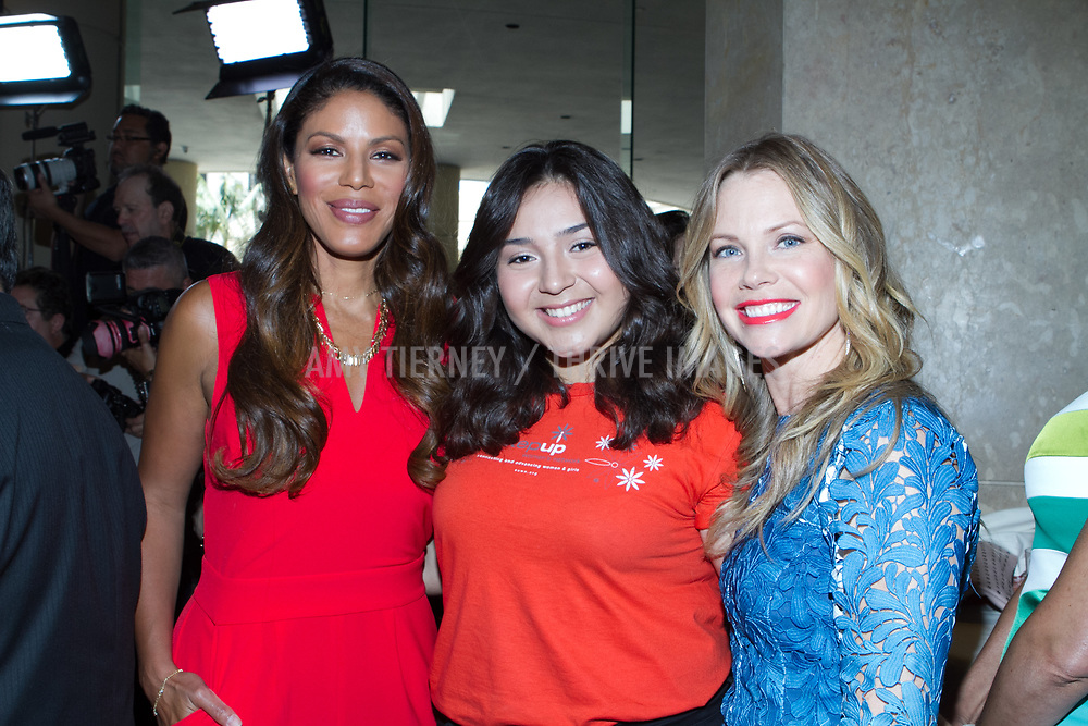 Actress Merle Dandridge, Step Up student honoree Kimberly and actress Sarah Jane Morris