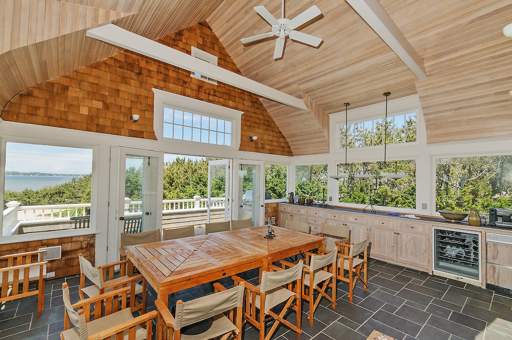 Traditional style oceanfront home designed by Robert A. Stern Architects, Lane, Southampton, NY