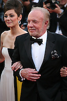 Actress, Marion Cotillard and Actor James Caan.at the Blood Ties film gala screening at the Cannes Film Festival Monday 20th May 2013
