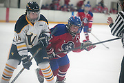 Victor's Jon Spencer fights for possession with Fairport's Alex Schoepfel during a scrimmage at Thomas Creek in Fairport on Monday, November 24, 2014.