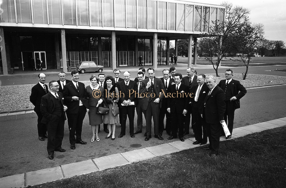 23/04/1965<br /> 04/23/1965<br /> 23 April 1965 <br /> Merville Dairy Conference at Telefis Eireann studios at Donneybrook, Dublin. Sales conference for Merville distributers by Merville Cream Ices Ltd. The provincel distributers with Mr. Victor Craigie, Director, Merville Dairy; Mr. Eric Craigie, Managing Director; Mr. Roy Craigie, Director and Mr. H.J.N. Freeman, Marketing Manager.