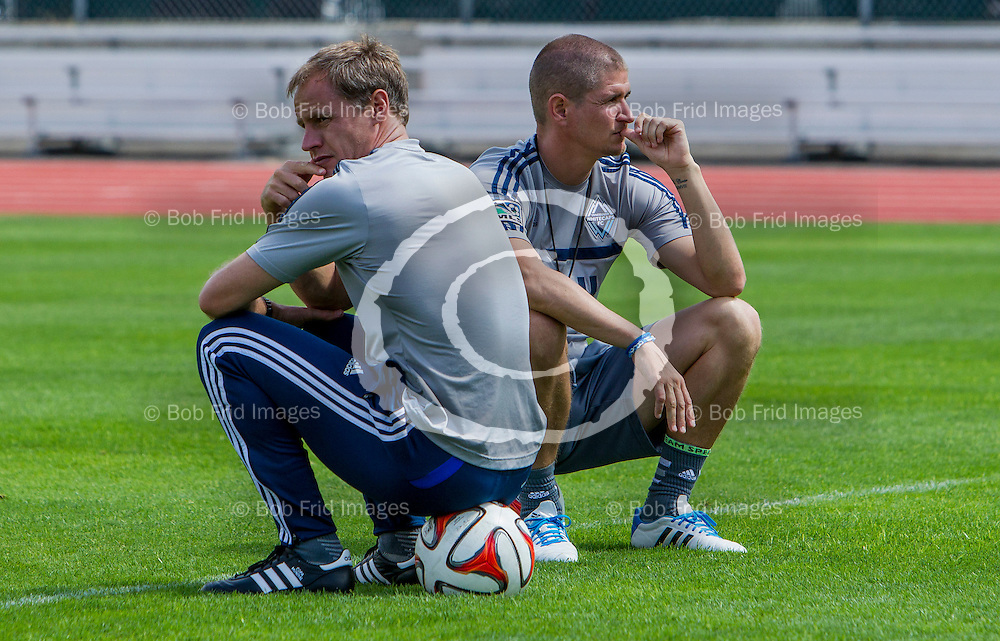 22 July  2014: Major League Soccer (MLS) - Vancouver Whitecaps FC hold open training Session for fans at Swangard Stadium in Vancouver, BC.  ****(Photo by Bob Frid - Vancouver Whitecaps) All Rights Reserved