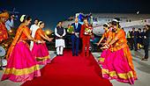 Staatsbezoek  Koning en Koningin aan India - aankomst