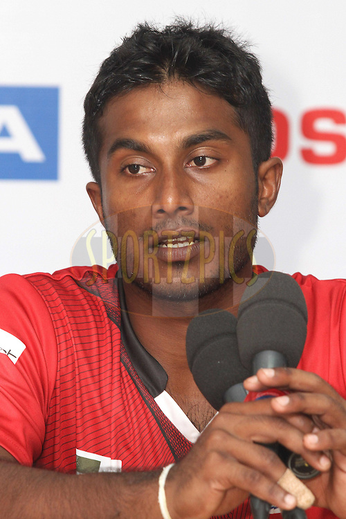 Mahela Udawatta of the Ruhunu Eleven during the post match press conference during the CLT20 - Q5 match between Leicester Foxes and Ruhunu Eleven held at the Rajiv Gandhi International Stadium, Hyderabad on the 21st September 2011..Photo by Shaun Roy/BCCI/SPORTZPICS