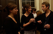 Michal Shavit, Rachel Cusk and Adrian Clarke, Book launch of Truth or Dare,  edited by Justine Picardie. House of St. Barnabus. Sales of the book at the launch went towards Breast  Cancer  Care. Greek St. London. 30 September 2004. SUPPLIED FOR ONE-TIME USE ONLY-DO NOT ARCHIVE. © Copyright Photograph by Dafydd Jones 66 Stockwell Park Rd. London SW9 0DA Tel 020 7733 0108 www.dafjones.com