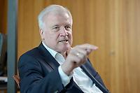 01 JUL 2019, BERLIN/GERMANY:<br /> Horst Seehofer, CSU, Bundesinnenminister, waehrend einem Interview, in seinem Buero, Bundesministerium des Inneren<br /> IMAGE: 20190701-01-006<br /> KEYWORDS: Büro