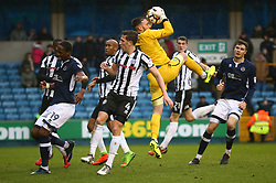 January 27, 2018 - London, United Kingdom - Rochdale's Josh Lillis (Yellow).during FA Cup 4th Round match between Millwall against Rochdale  at The Den, London on 27 Jan 2018  (Credit Image: © Kieran Galvin/NurPhoto via ZUMA Press)