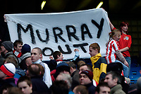 Photo: Jed Wee.<br /> Manchester City v Sunderland. The Barclays Premiership. 05/03/2006.<br /> <br /> Sunderland fans with a banner chanting for the departure of chairman Bob Murray.