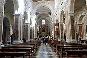 Interior of the Cathedral, Sant'Agata de' Goti, Campania, Italy