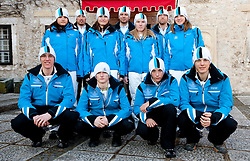 Official photo of  Slovenia Nordic cross country  Ski team for European Youth Olympic Festival (EYOF) in Liberec (CZE) at official presentation, on February  9, 2011 at Bled Castle, Slovenia. (Photo By Vid Ponikvar / Sportida.com)