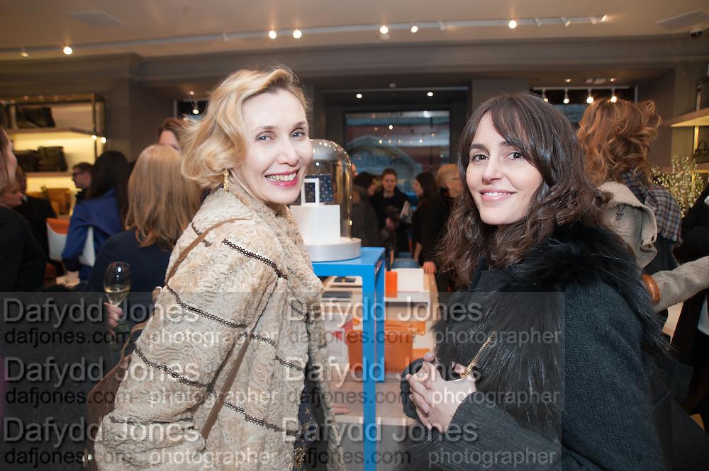ALLEGRA HICKS; TANYA FARES, Smythson Sloane St. Store opening. London. 6 February 2012.