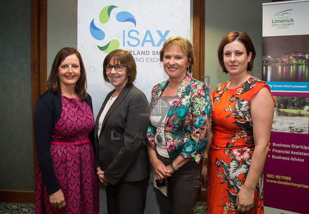 17.05.2016               <br /> A seminar focused on a Start your Own Business programme, targeted at mature entrepreneurs aged 55 plus took place in the Savoy Hotel, Limerick on Tuesday evening, 17 May.  Called Ingenuity, the programme, led by the Ireland Smart Ageing Exchange (ISAX) and sponsored by Bank of Ireland will be run in collaboration with the Local Enterprise Office in Limerick, and will take place over eight weeks, starting in late September 2016.  The seminar provided detailed information on the Start your Own Business programme that will seek interest from those looking to set up both lifestyle and fast-growth businesses.  <br /> <br /> Pictured at the event are, Gert O'Rourke, Jane Howlett, Anne Connelly, CEO, Ireland Smart Ageing Exchange and Miriam Garcia Mortell, ISAX group. Picture: Alan Place