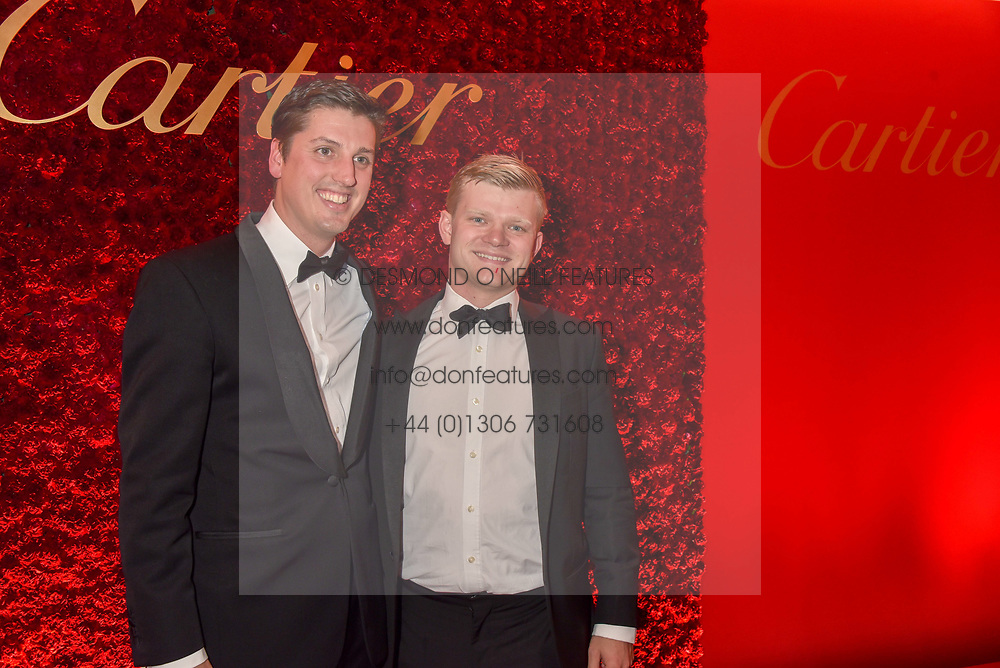Left to right Jake Warren and Lord Porchester at The Cartier Racing Awards 2018 held at The Dorchester, Park Lane, England. 13 November 2018. <br /> <br /> ***For fees please contact us prior to publication***